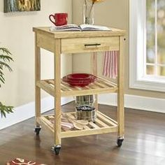 Beautiful Sheena Kitchen Cart by Millwood Pines kitchen dining furniture sale from top store Stainless Steel Kitchen Cart, Stainless Steel Counters, Furniture Sale, Dining Furniture, Kitchen Storage, Storage Spaces, Rolling Kitchen Cart, Kitchen Island Cart, Kitchen Islands
