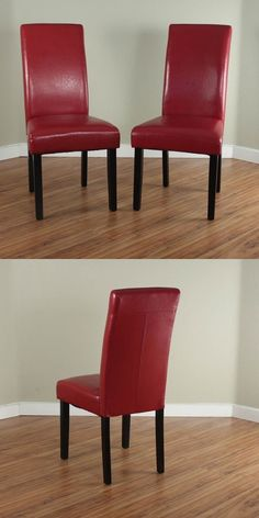 Red Leather Dining Room Chairs For Sale Chairs 54235 Set Of 2 Elegant Design Black Leather Dining Chairs