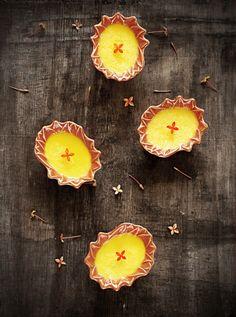Pudim cremoso de limão e baunilha - Sabores de Canela