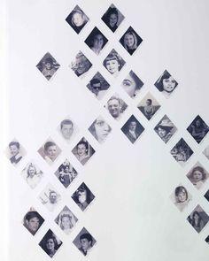 Precious Diamonds Family Tree | Create a family tree photo display with diamond-shaped photos