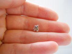 ooak extreme micro miniature tiny jointed bear by tweebears.deviantart.com on @deviantART