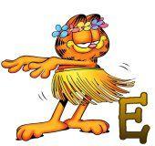 Oh my Alfabetos!: Alfabeto de Garfield hawaiano.