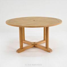 Teak Warehouse | Round Teak Pedestal Table