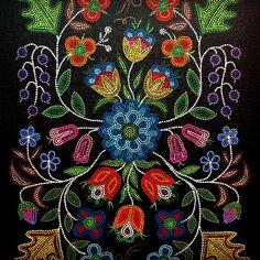 Indian Beadwork, Native Beadwork, Native American Beadwork, Mandala Painting, Dot Painting, Painting Patterns, Applique Patterns, Beading Patterns, Beading Ideas