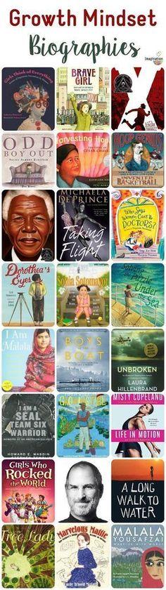 Books that teach growth mind sets through biographies