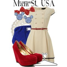 """Main St. USA"" by lalakay on Polyvore"
