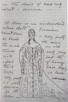 Grand Princess Ella's description of her sister's, Alexandra's, wedding dress to their grandmother Queen Victoria.