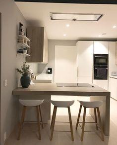 11 veces he visto estas estupendas cocinas abiertas. Kitchen Dinning Room, Kitchen Benches, Kitchen Decor, Kitchen Ideas, Sweet Home Design, Small Space Kitchen, Cupboard Design, Stylish Home Decor, Kitchen Interior
