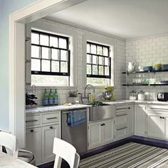 Great looking small kitchen.