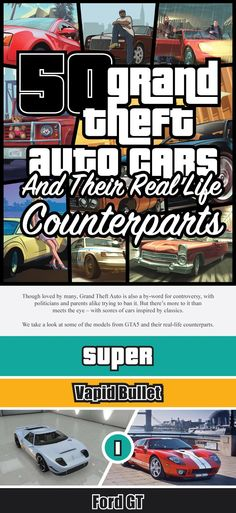 GTA V Cars and Their Real-Life Counterparts (INFOGRAPHIC