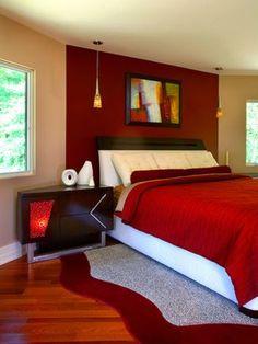 Decoración dormitorio rojo