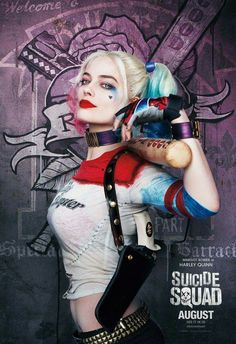 Suicide Squad poster - Harley Quinn  --Be your own Whyld Girl with a wicked tee today! http://whyldgirl.com/tshirts