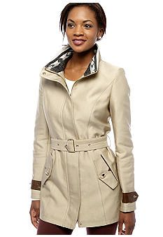 Sam Edelman Single Breasted Trench with Tribal Collar - Belk.com