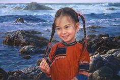 ARTIST WAI MING - Asian Oriental Chinese Fine Art Artwork Paintings Catalog (title: By The Seaside)