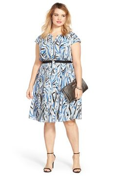 Sejour Cinched Waist Shirtdress & Accessories (Plus Size) available at #Nordstrom