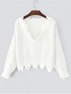 PRODUCT DESCRIPTION Type: Pullovers  Material: Acrylic,Cotton,Spandex  Sleeves Length: Full  Collar: V-Collar  Style: Fashion  Pattern Type: Solid  Weight: 0.4050kg  Package: 1 x Sweater