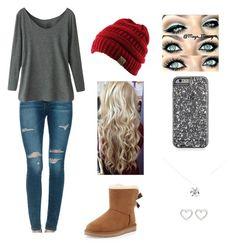 """""""Can't wait for fall!"""" by taylorbug1616 ❤ liked on Polyvore featuring Joe's Jeans, UGG Australia, Tiffany & Co. and Marc by Marc Jacobs"""