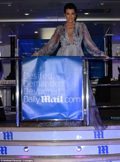 Queen of the seas: Kris showed off her incredible figure in the beautiful dress which feat...