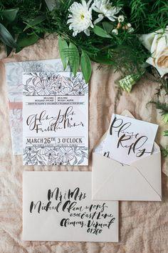 書道庭の結婚式の文房具