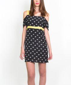 Look at this #zulilyfind! Black Violeta Flora Dress #zulilyfinds