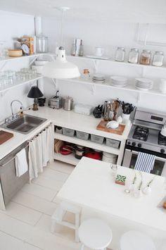 etagere murale cuisine de couleur blanc pour la cuisine blanche