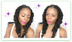 Loc Hairstyle Tutorial: Two Strand Twist Piggytail/Tropical Roots