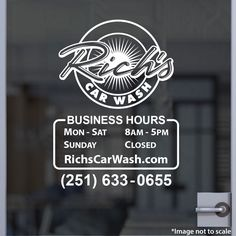 Car Wash Safety Information Signs In X In Signs - Vinyl decals car wash