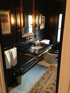 The Peak of Tres Chic: Needing, Wanting, Loving: A Brass Bathroom