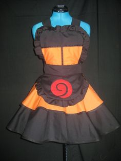 Naruto Shippuden Cosplay Apron Pinafore by DarlingArmy.deviantart.com on @deviantART