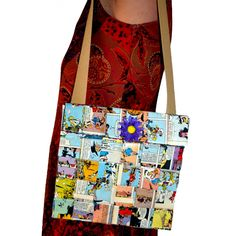 Bolso comic Lucky y Luke 22.50€ Lucky Luke, Puppets, Messenger Bag, Upcycle, Recycling, Satchel, Reusable Tote Bags, Paper Crafts, Candy