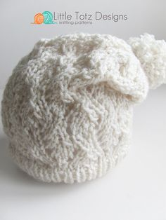 NEW  The Melissa Slouch Hat   Knitting by LittleTotzDesigns