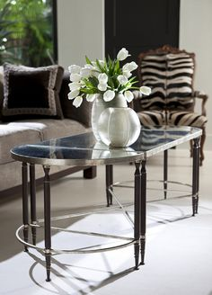 Yves Cocktail Table from Collection Ten by Ebanista. Three-piece wrought iron cocktail table