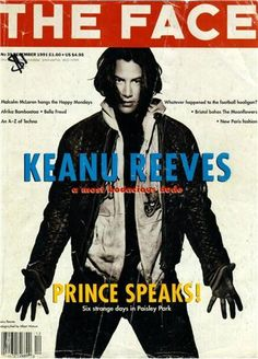 Face Magazine cover 1991 with Keanu Reeves