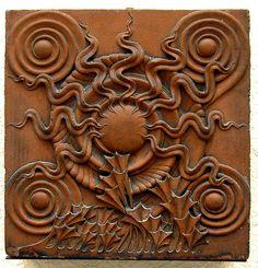 Ceramic tile, Louis Sullivan Architectural Collection, Southern Illinois University at Edwardsville. Art Nouveau, Tile Art, Mosaic Tiles, Art And Architecture, Architecture Details, Louis Sullivan, Architectural Elements, Architectural Pattern, Architectural Salvage