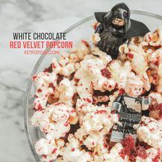 National Popcorn Day-  White Chocolate Red Velvet Popcorn - National Popcorn Day