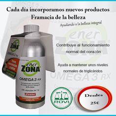 Enerzona omega 3 RX altamente concentrado: 75 % omega 3 y 60 % de EPA + DHA, alto grado de pureza: y certificado 5 estrellas por (IFOS). El consumo de omega 3 es recomendable en nuestra alimentación. #omega3 #enerzona
