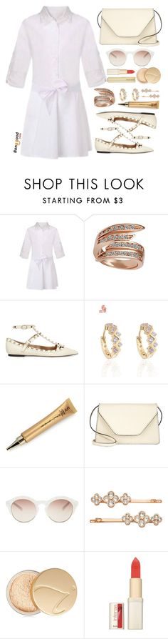 """Bangood"" by simona-altobelli ❤ liked on Polyvore featuring Valentino, Valextra, self-portrait, Henri Bendel, Jane Iredale, L'Oréal Paris, Kevyn Aucoin and BangGood"