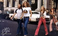 Robert Plant enjoys making groupies carry his stuff.