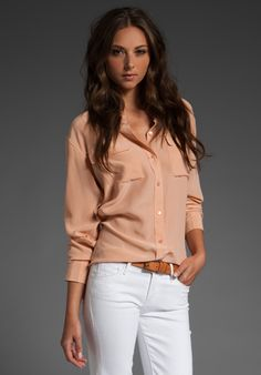 Like this dusty rose colour with white jeans