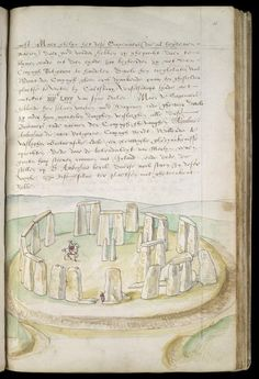 The British Library Stonehenge  This is one of the earliest drawings of Stonehenge. It is the work of Lucas de Heere and dates from the 1570s.  © The British Library Board