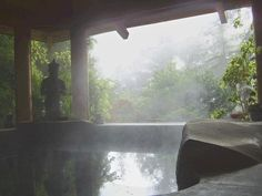 Japanese Watsu hot tub built in stone overlooks the Redwoods.  Mill Valley 3 Bedroom / 2.5 Bath.
