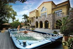Guangzhou factory supply portable freestanding jacuzzy swimming pool $1000~$25000