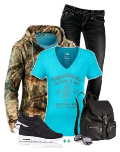 """""""Camo Hoodie"""" by daiscat ❤ liked on Polyvore featuring мода, Under Armour, The North Face, NIKE, H&M и Stella & Dot"""