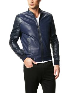 Perforated Leather Bomber Jacket by Versace Collection on Gilt.com