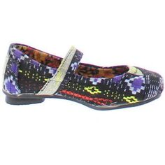 Shoes of Soul Girls' Textured Flat Shoe, Infant Girl's, Size: 1, Black