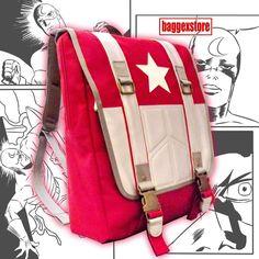 Captain America Youth Rucksack Backpack School  Book Bag Casual Teenager Daypack #BaggexStore #Backpack