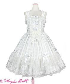 Bright Sugar JSK by Angelic Pretty Girls Dresses, Flower Girl Dresses, Shops, Angelic Pretty, Japanese Fashion, Lolita Fashion, Victorian, Bright, Wedding Dresses