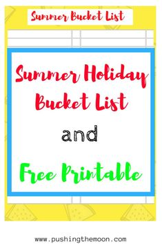 Summer Holiday Bucket List and Free Printable School Summer Holidays, Summer Bucket Lists, Summer Activities, Free Printables, Moon, Posts, Writing, Friends, The Moon