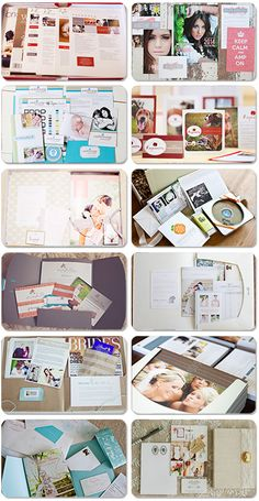 photographer welcome kits / packets - Paperie links to each photographer's original blog entries (with photos of the kits assembled and unassembled) and links to the kits on Pinterest as well - http://paperieboutique.com/2013/04/25/photographer_welcome_packet/