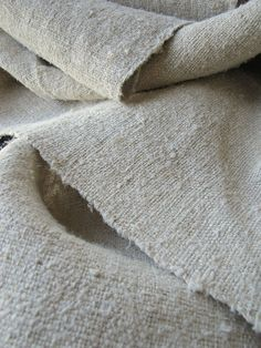 Original Hand-Woven French Vintage Linen